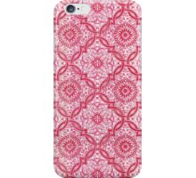 Red Portuguese Tile Pattern iPhone Case/Skin