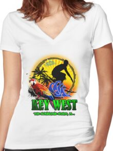 Summer In Key West Women's Fitted V-Neck T-Shirt