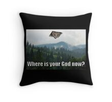 Ceiling Cat God Oil Painting Throw Pillow