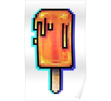 8bit Pixel Art Summer Popsicle Poster