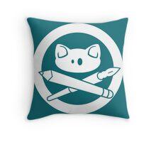 Pirate Kitty Design Throw Pillow