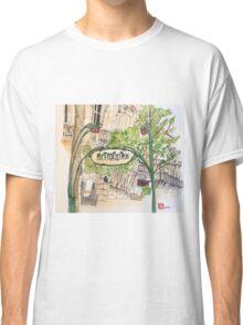 Paris Metropolitan Sign Classic T-Shirt