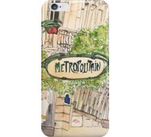 Paris Metropolitan Sign iPhone Case/Skin