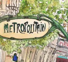 Paris Metropolitan Sign Sticker