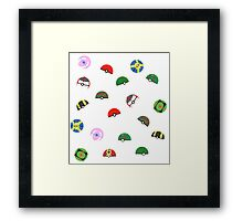 Pokeball Variants  Framed Print