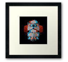 Geometric Cubes Framed Print