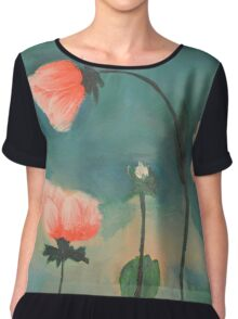 Flowers in the Mist Chiffon Top