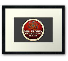 Logo - Mr. Fusion Framed Print