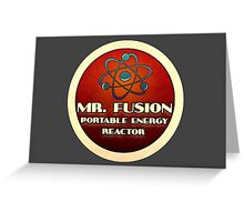 Logo - Mr. Fusion Greeting Card