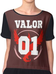 TEAM VALOR - Jersey Chiffon Top