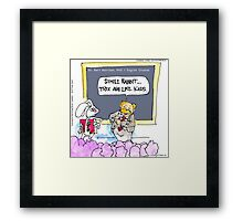 Silly Rabbit.....It's The Grammar Police Framed Print