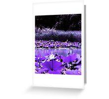 White Water Lotus Greeting Card