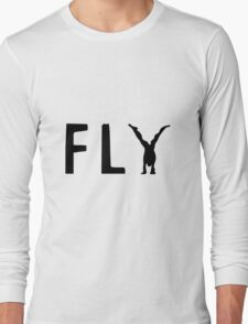 Funny Fly Graphic Design Long Sleeve T-Shirt