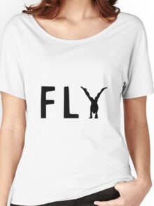 Funny Fly Graphic Design Women's Relaxed Fit T-Shirt