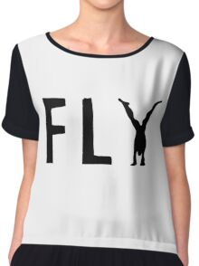 Funny Fly Graphic Design Chiffon Top