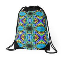 Bright contrast vortex Drawstring Bag