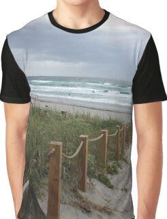 Stormy Beach Graphic T-Shirt