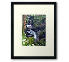 LLyn Crafnat waterfall Framed Print