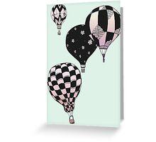 Pastel Skies Hot Air Balloon Rides Greeting Card