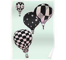 Pastel Skies Hot Air Balloon Rides Poster