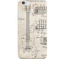 Gibson Les Paul Guitar US Patent Art 1955 iPhone Case/Skin