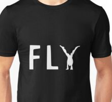 funny fly, girl upside down Unisex T-Shirt