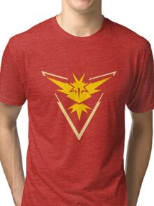 Team Instinct - Pokemon Go Team Merch Tri-blend T-Shirt