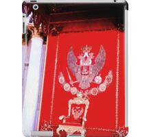 Intensity of red on the King's chair. iPad Case/Skin