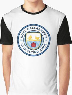 Noel Gallagher's High Flying Birds Crest Graphic T-Shirt