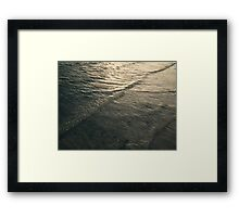 Glittering Waves Framed Print