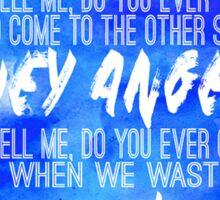 Hey Angel Lyric Design Sticker