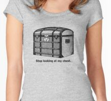 Stop Looking At My Chest Women's Fitted Scoop T-Shirt