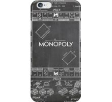 Monopoly Board Game US Patent Art 1935 Blackboard iPhone Case/Skin