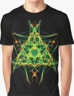 Energetic Geometry-  Abstract Pentacle Symbol for Earthen Connection Graphic T-Shirt