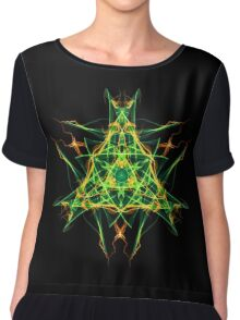 Energetic Geometry-  Abstract Pentacle Symbol for Earthen Connection Chiffon Top