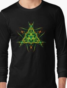 Energetic Geometry-  Abstract Pentacle Symbol for Earthen Connection Long Sleeve T-Shirt