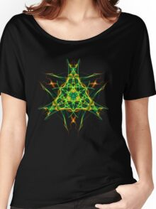 Energetic Geometry-  Abstract Pentacle Symbol for Earthen Connection Women's Relaxed Fit T-Shirt