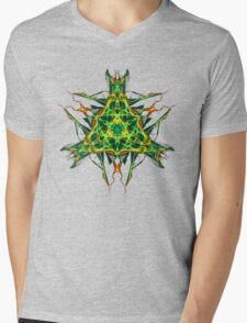 Energetic Geometry-  Abstract Pentacle Symbol for Earthen Connection Mens V-Neck T-Shirt