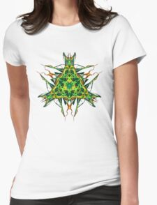 Energetic Geometry-  Abstract Pentacle Symbol for Earthen Connection Womens Fitted T-Shirt