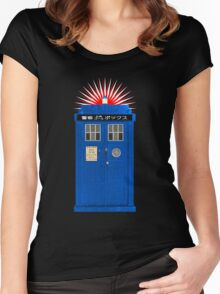 Japanese TARDIS Women's Fitted Scoop T-Shirt