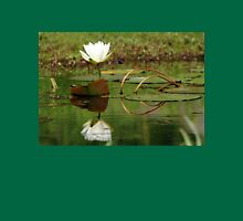 White Water Lily Womens Fitted T-Shirt