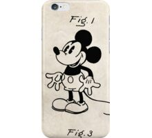 Mickey Mouse US Patent Art Walt Disney Cartoon 1930 iPhone Case/Skin
