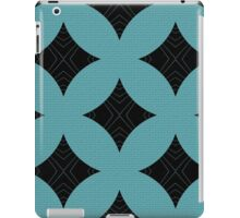 Black Triangles on Blue Bricks iPad Case/Skin