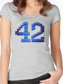 TARDIS in 42 Women's Fitted Scoop T-Shirt