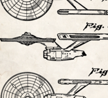 Star Trek USS Enterprise US Patent Art Spacecraft Rocket Kirk Spock Sticker