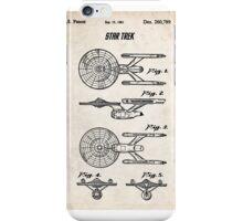 Star Trek USS Enterprise US Patent Art Spacecraft Rocket Kirk Spock iPhone Case/Skin