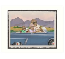 Bigfoot Family Sunday Drive Art Print