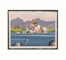 Bigfoot Family Sunday Drive Art Print