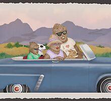 Bigfoot Family Sunday Drive by Kim  Harris