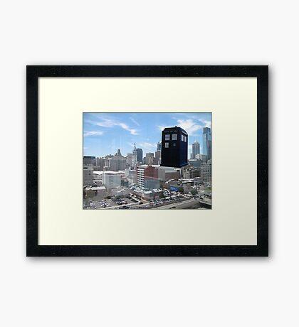 TARDIS Over Philly Framed Print